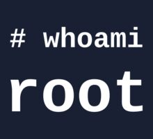 whoami root - Dark -T-Shirt for Sysadmins Kids Clothes