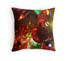 Christmas Bokeh II Throw Pillow