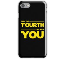 May The Fourth Be With You - Yellow/Dark Parody Design for Geeks iPhone Case/Skin