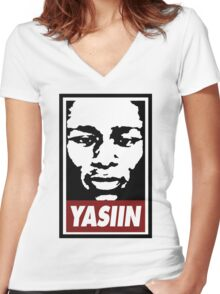Yasiin Bey / Mos Def Women's Fitted V-Neck T-Shirt