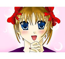 Bow Manga Girl Photographic Print