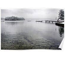 Winter day on Echo Bay Poster