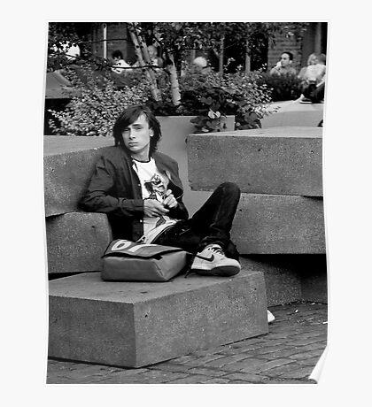 Boy on Blocks Poster
