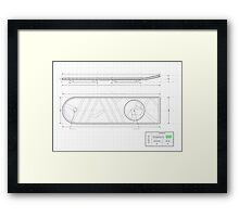 The Prototype - Hoverboard (Back To The Future) Framed Print