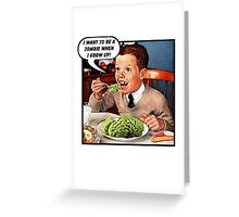 Little Tommy Always Eats His Greens! Greeting Card