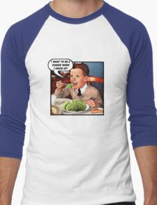 Little Tommy Always Eats His Greens! Men's Baseball ¾ T-Shirt