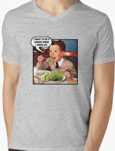 Little Tommy Always Eats His Greens! Mens V-Neck T-Shirt