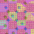 Pink and grid by RosiLorz