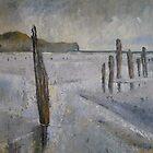 Groynes, Sandend 2 by Sue Nichol