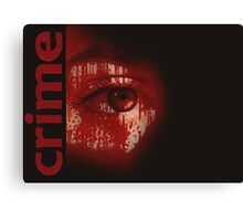 Crime poster Canvas Print