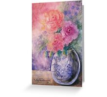 The Bouquet In The Vase Greeting Card