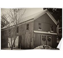 The snow covered Barn Poster