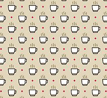 Coffee Pattern - Drinks Series by Icon Prints