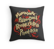 SyFy Monster Movie Mash Halloween Throw Pillow