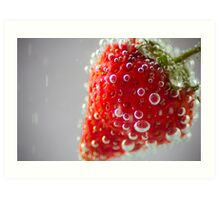 Strawberry Bubbles Art Print
