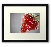 Strawberry Bubbles Framed Print