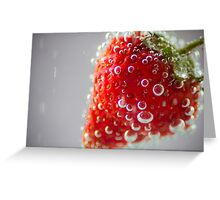 Strawberry Bubbles Greeting Card