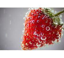 Strawberry Bubbles Photographic Print