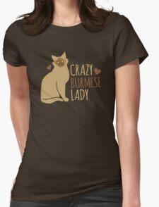 Crazy Burmese Cat Lady T-Shirt