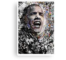 """I Am Not A Perfect Man"", Obama Civil Rights and Protest Collage Canvas Print"