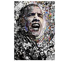 """I Am Not A Perfect Man"", Obama Civil Rights and Protest Collage Photographic Print"