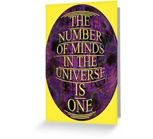 ONE is the number Greeting Card