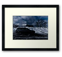 Hide Out from the white out Framed Print