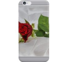 Pink & White on Satin iPhone Case/Skin
