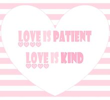 LOVE IS PATIENT by Jean Gregory  Evans