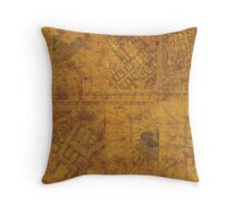 Distressed Maps: Marauders Map Inside Throw Pillow