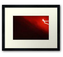 black red white Framed Print
