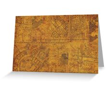 Distressed Maps: Marauders Map Inside Greeting Card