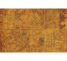 Distressed Maps: Marauders Map Inside Photographic Print