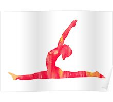 Yoga watercolor art print painting Poster