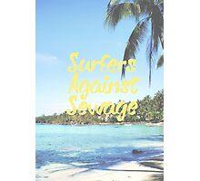Surfers Agasint Sewage Photographic Print