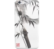 Moon blade bamboo sumi-e painting  iPhone Case/Skin