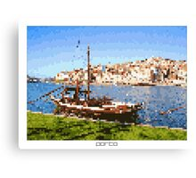 Pixel Art Cities: Porto Canvas Print