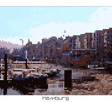 Pixel Art Cities: Hamburg by Elena Kartseva