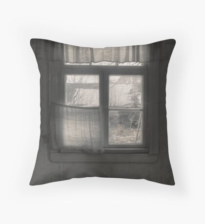 'Quiet, empty winter afternoon' Throw Pillow