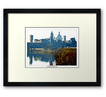 Pixel Art Cities: Mantova Framed Print