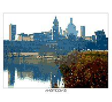 Pixel Art Cities: Mantova Photographic Print