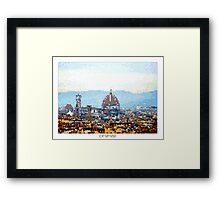 Pixel Art Cities: Florence Framed Print