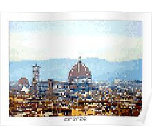 Pixel Art Cities: Florence Poster