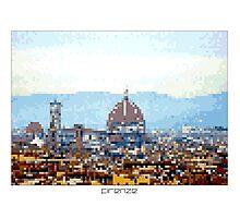 Pixel Art Cities: Florence Photographic Print