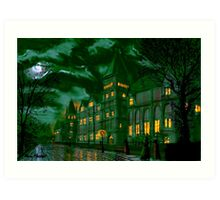 Yorkshire College by Moonlight Art Print