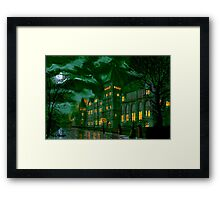 Yorkshire College by Moonlight Framed Print