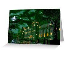 Yorkshire College by Moonlight Greeting Card