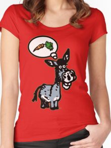 The Carrot by Cheerful Madness!! Women's Fitted Scoop T-Shirt