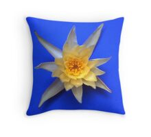 Waterlilie in blue Throw Pillow
