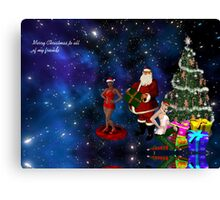 Merry Christmas to all of my friends Canvas Print